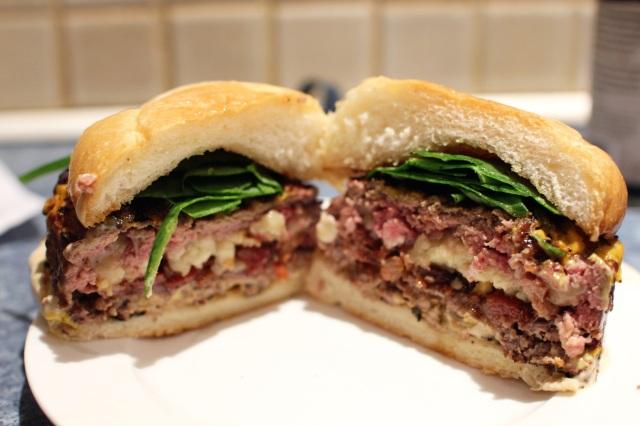 Reverse Bacon Cheeseburger