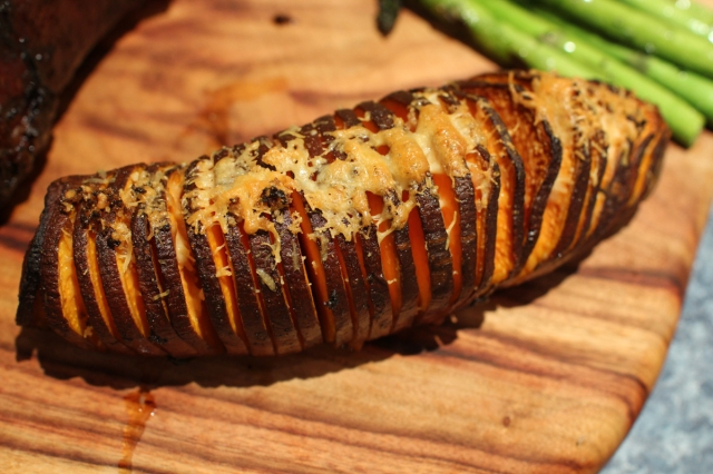 Sweet Potato Hasselback