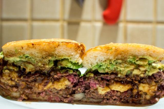 Vegemite Cheeseburger